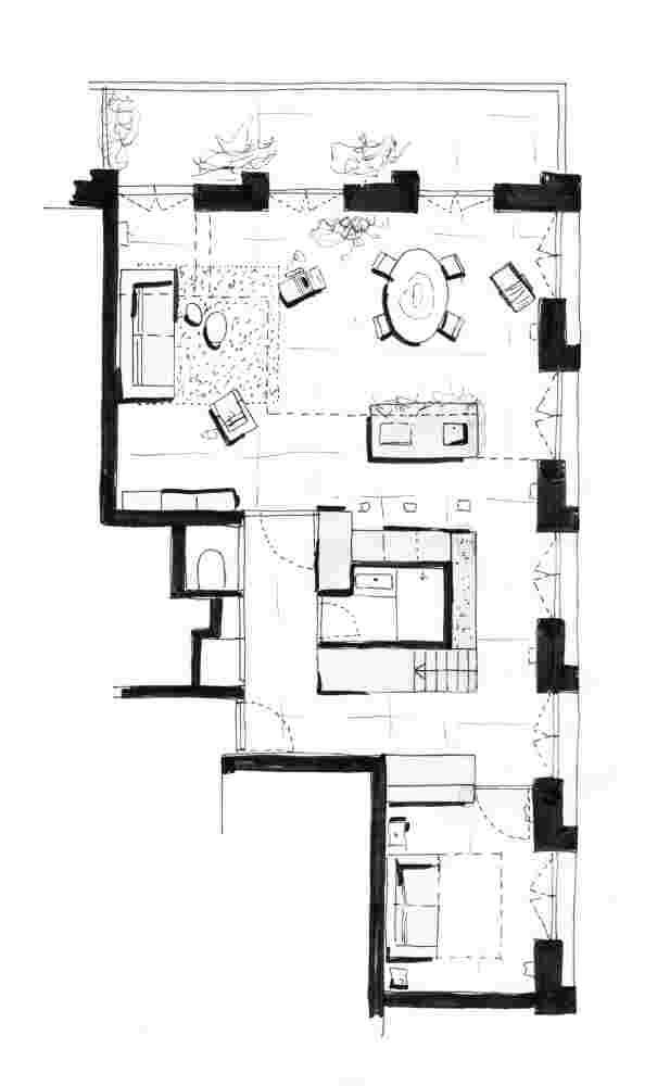 Plattegrond woonverdieping